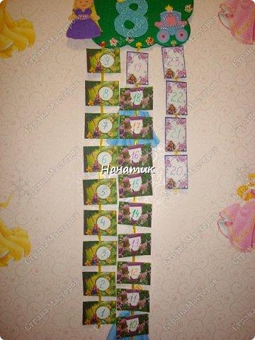 Доброе утро! Сшила из фетра календарь ожидания Дня Рождения! Дочурка попросила сделать. Увидела в интете такое панно, и тут же решила, что именно такой календарь хочу сделать). фото 2