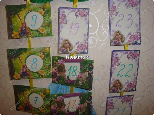 Доброе утро! Сшила из фетра календарь ожидания Дня Рождения! Дочурка попросила сделать. Увидела в интете такое панно, и тут же решила, что именно такой календарь хочу сделать). фото 3