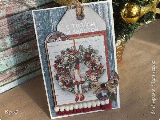 И снова здравствуйте! Подготовка к новогодним праздникам не может обойтись без изготовления открыток. Что за подарок без открытки? не привычно как-то.  Вот и я покопалась в своих запасах, нашла прошлогодние коллекции, а точнее несколько кусочков от них, и вперед.  фото 1