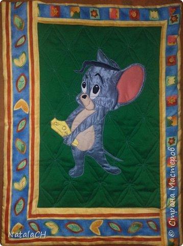 Гимнастический коврик для мальчика. 80*140 см. Аппликация. Внутри двойной синдепон. фото 2