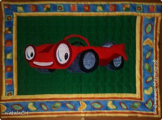 Гимнастический коврик для мальчика. 80*140 см. Аппликация. Внутри двойной синдепон. фото 1
