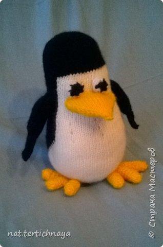 """Описание этого пингвина я нашла на сайте """"Все сама"""". Очень подробное описание работы. Только имени автора не знаю. Высота пингвина 20 сантиметров, связан спицами. Пряжа акриловая. фото 2"""