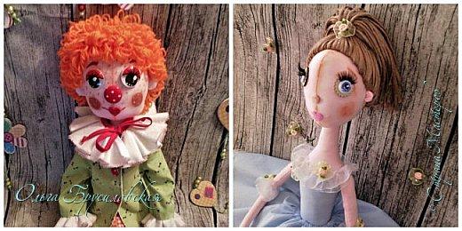 Привет всем в СМ! Вот они, мои новые куклы: Клоун и Балерина! Артисты! Цирк и балет!  фото 1