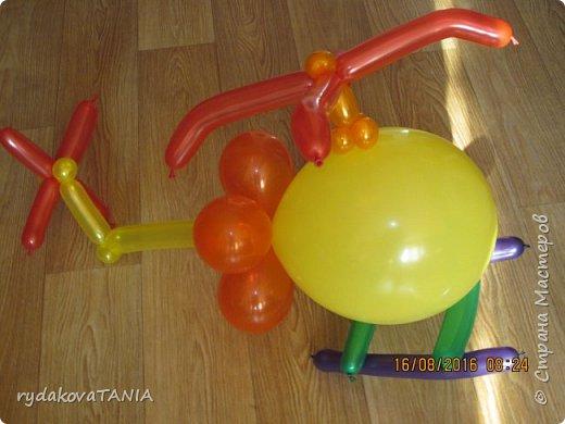 Игрушки из шаров фото 7