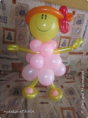Игрушки из шаров фото 3