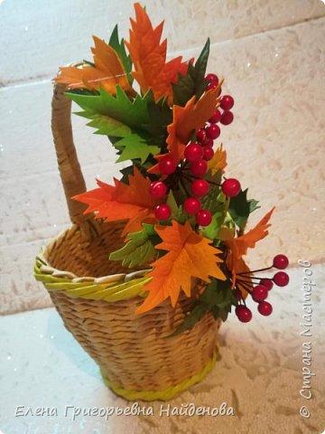 Заказ для дочери Татьяны в садик на день осени.Корзинка и заколочка для фотосесии. фото 3