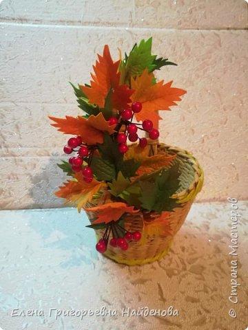 Заказ для дочери Татьяны в садик на день осени.Корзинка и заколочка для фотосесии. фото 8