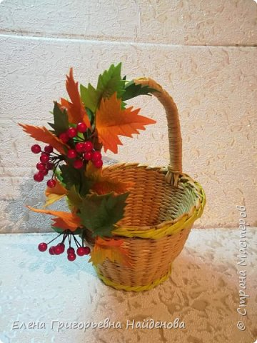 Заказ для дочери Татьяны в садик на день осени.Корзинка и заколочка для фотосесии. фото 4