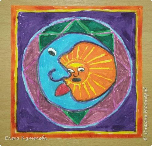 Я продолжаю знакомить детей с этно искусством разных континентов. После Южной Америки перебрались в Северную, в Мексику, и познакомились с искусством индейцев уичоли. фото 6
