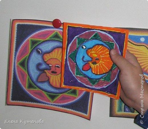 Я продолжаю знакомить детей с этно искусством разных континентов. После Южной Америки перебрались в Северную, в Мексику, и познакомились с искусством индейцев уичоли. фото 5