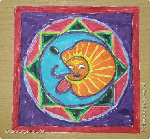 Я продолжаю знакомить детей с этно искусством разных континентов. После Южной Америки перебрались в Северную, в Мексику, и познакомились с искусством индейцев уичоли. фото 4