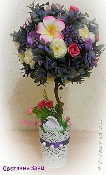 Цветочный топиарий.  фото 1