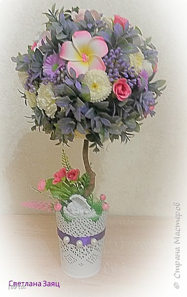 Цветочный топиарий.  фото 2