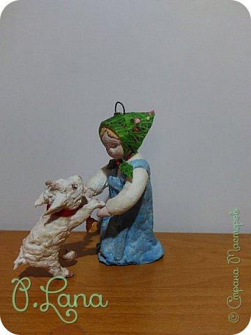 Доброго времени суток,жители страны мастеров! Сегодня хочу показать вам новую игрушку  из ваты Алёнушку и братца Иванушку,а точнее козлёночка. фото 2