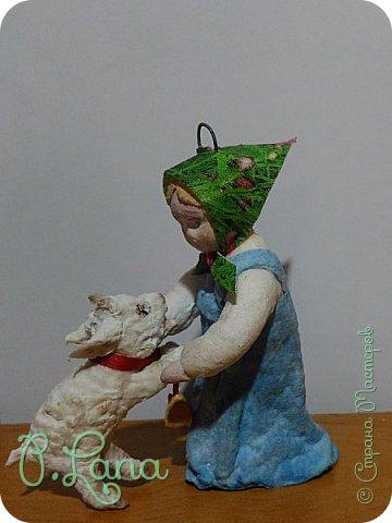 Доброго времени суток,жители страны мастеров! Сегодня хочу показать вам новую игрушку  из ваты Алёнушку и братца Иванушку,а точнее козлёночка. фото 5
