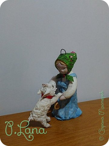 Доброго времени суток,жители страны мастеров! Сегодня хочу показать вам новую игрушку  из ваты Алёнушку и братца Иванушку,а точнее козлёночка. фото 1