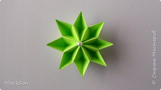 Простой цветок из бумаги. Поделки оригами из модулей для начинающих