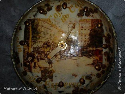 Хлебница и часы для моей кухни. Покраска,салфетки, декупажная карта,лак фото 3