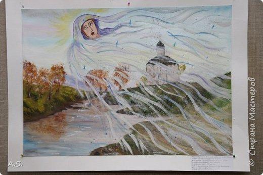 И снова выставка детских работ, посвященная празднику Покрова Пресвятой Богородицы.  фото 1