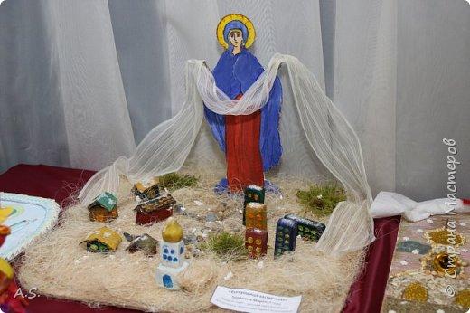 И снова выставка детских работ, посвященная празднику Покрова Пресвятой Богородицы.  фото 3