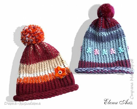 Новые шапки на зиму связала для дочки :-) фото 1