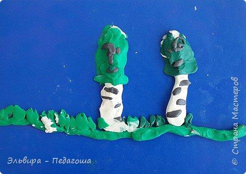 """Понравилась мне идея  Фатеевой Оксаны вот этой """"Берёзовой рощи"""" http://stranamasterov.ru/node/1111988 Решила со своими первоклашками тоже её воплотить Вот что у нас получилось.  фото 21"""