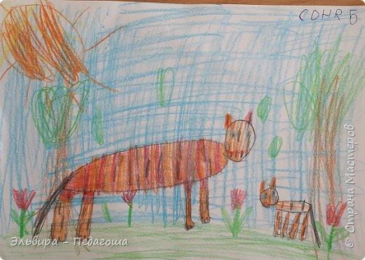 Очень быстро пролетела первая четверть. Оглянулась назад.... как много мы оказывается говорили на разные темы и очень много рисовали!!! Обо всём на свете!!! Например, о растениях и животных, которые нуждаются в охране и занесены в Красную Книгу. Или рассказали друг-другу о наших домашних питомцах, о том какие  животные и растения нам нравятся. фото 7