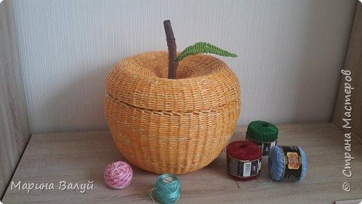 Корзина-яблоко для ниток фото 2
