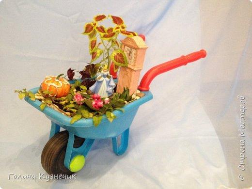 """Мини-сад, идея создать его в тачке пришла после посещения  выставки  """"Сады и люди"""" на ВДНХ  этим летом. фото 1"""