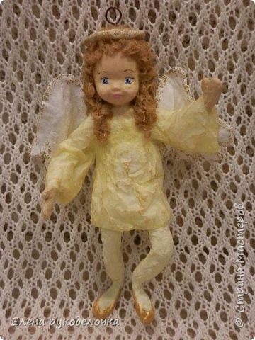 Сотворились у меня ещё две ёлочные игрушки. На этот раз это ангелочки. Маленькая Ангелинка. фото 5