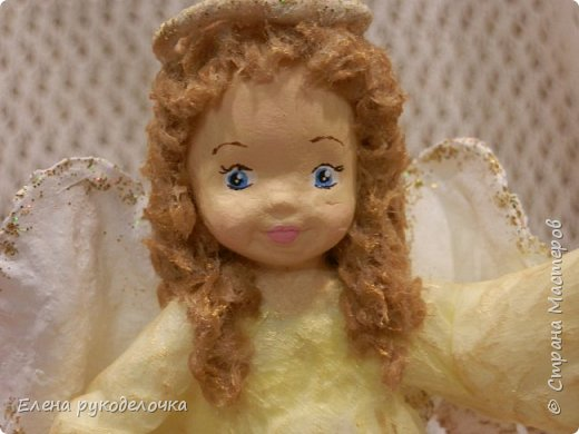 Сотворились у меня ещё две ёлочные игрушки. На этот раз это ангелочки. Маленькая Ангелинка. фото 4