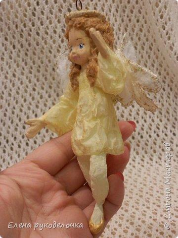 Сотворились у меня ещё две ёлочные игрушки. На этот раз это ангелочки. Маленькая Ангелинка. фото 6