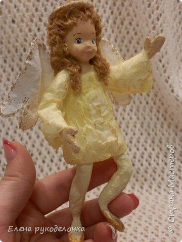 Сотворились у меня ещё две ёлочные игрушки. На этот раз это ангелочки. Маленькая Ангелинка. фото 7