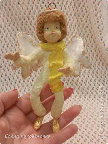 Сотворились у меня ещё две ёлочные игрушки. На этот раз это ангелочки. Маленькая Ангелинка. фото 12