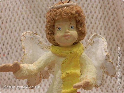 Сотворились у меня ещё две ёлочные игрушки. На этот раз это ангелочки. Маленькая Ангелинка. фото 13