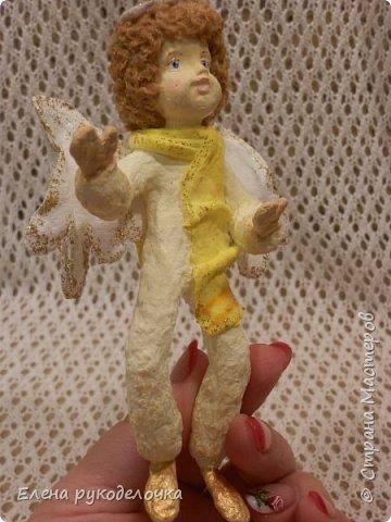 Сотворились у меня ещё две ёлочные игрушки. На этот раз это ангелочки. Маленькая Ангелинка. фото 16