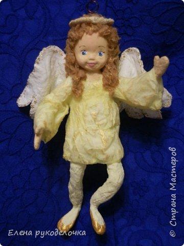 Сотворились у меня ещё две ёлочные игрушки. На этот раз это ангелочки. Маленькая Ангелинка. фото 1