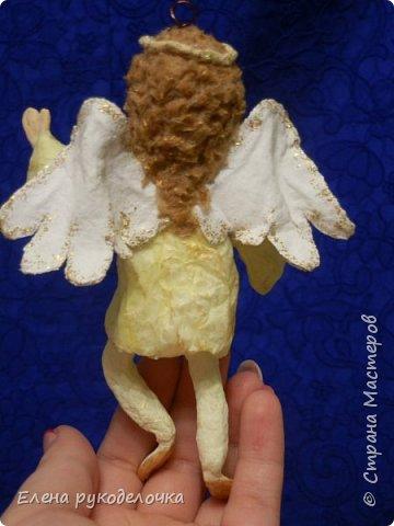 Сотворились у меня ещё две ёлочные игрушки. На этот раз это ангелочки. Маленькая Ангелинка. фото 2