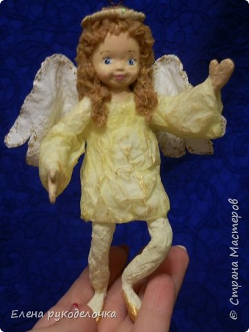 Сотворились у меня ещё две ёлочные игрушки. На этот раз это ангелочки. Маленькая Ангелинка. фото 3