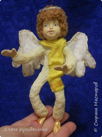 Сотворились у меня ещё две ёлочные игрушки. На этот раз это ангелочки. Маленькая Ангелинка. фото 8