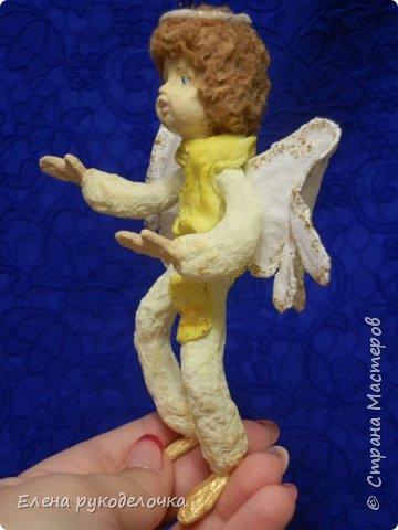 Сотворились у меня ещё две ёлочные игрушки. На этот раз это ангелочки. Маленькая Ангелинка. фото 9