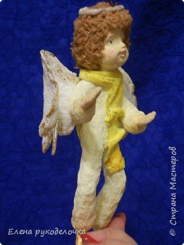 Сотворились у меня ещё две ёлочные игрушки. На этот раз это ангелочки. Маленькая Ангелинка. фото 10