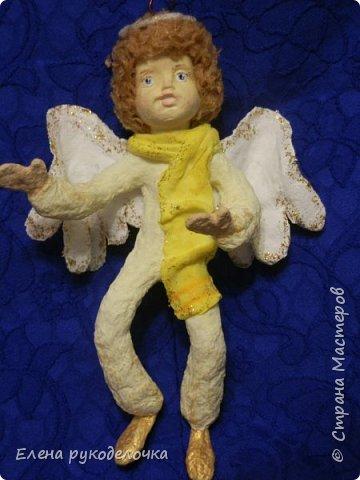 Сотворились у меня ещё две ёлочные игрушки. На этот раз это ангелочки. Маленькая Ангелинка. фото 11
