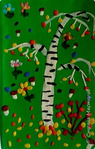 """Вот такие пластилиновые березки сотворили второклашки на уроках ДПИ. Работа Никифоровой Юли 2"""" Д"""" класс. фото 18"""