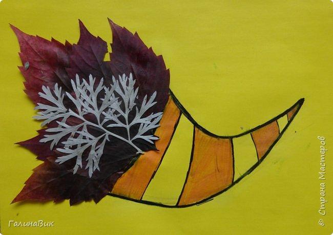 Всем добрый день! Осень постепенно отдаёт бразды правления зиме. Она (осень), как всегда, прекрасна многобразием красок!!! С пятиклассниками сделали работы, посвящённые замечательному времени года! Это мой образец. фото 2