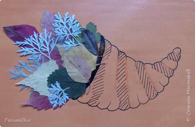 Всем добрый день! Осень постепенно отдаёт бразды правления зиме. Она (осень), как всегда, прекрасна многобразием красок!!! С пятиклассниками сделали работы, посвящённые замечательному времени года! Это мой образец. фото 4
