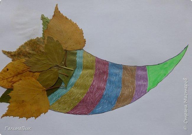 Всем добрый день! Осень постепенно отдаёт бразды правления зиме. Она (осень), как всегда, прекрасна многобразием красок!!! С пятиклассниками сделали работы, посвящённые замечательному времени года! Это мой образец. фото 5