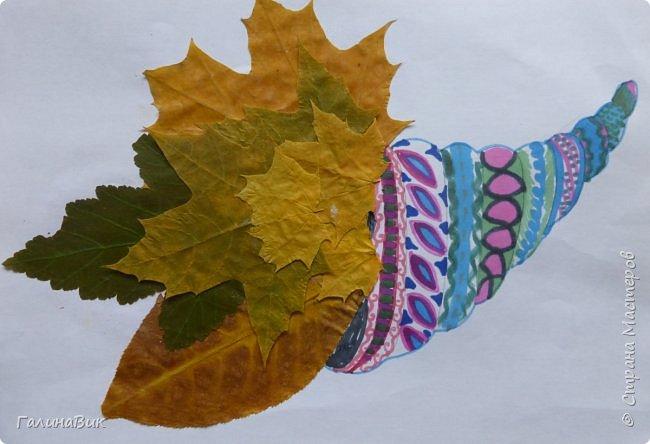 Всем добрый день! Осень постепенно отдаёт бразды правления зиме. Она (осень), как всегда, прекрасна многобразием красок!!! С пятиклассниками сделали работы, посвящённые замечательному времени года! Это мой образец. фото 6