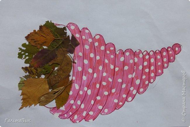 Всем добрый день! Осень постепенно отдаёт бразды правления зиме. Она (осень), как всегда, прекрасна многобразием красок!!! С пятиклассниками сделали работы, посвящённые замечательному времени года! Это мой образец. фото 8
