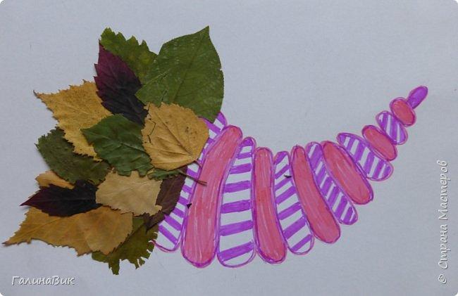 Всем добрый день! Осень постепенно отдаёт бразды правления зиме. Она (осень), как всегда, прекрасна многобразием красок!!! С пятиклассниками сделали работы, посвящённые замечательному времени года! Это мой образец. фото 9